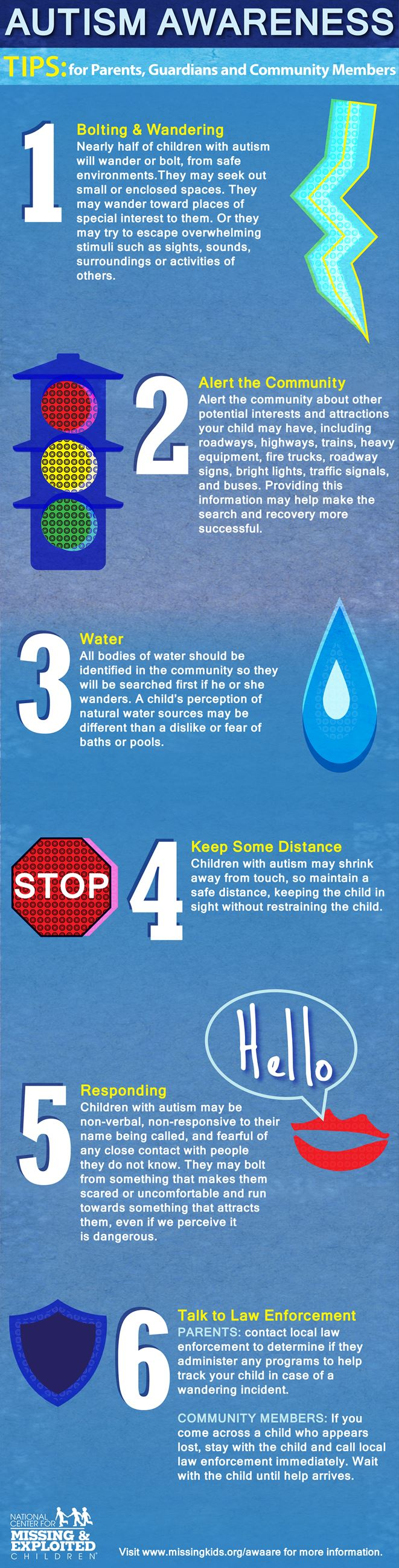 Autism Aware Infographic Alert Keep Distance Talk to Law Enforcement